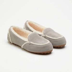 NWT UGG Women's Hailey Slippers Grey Loafer 8.5